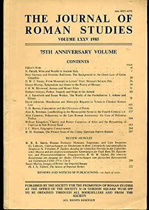 The Journal of Roman Studies. Volume LXXV