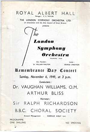 Remembrance Day Concert (PROGRAMME)