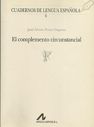 El complemento circunstancial: José Álvaro Porto
