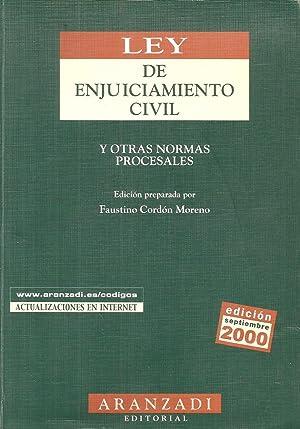 Ley de enjuiciamiento civil y otras normas: Faustino Cordón Moreno