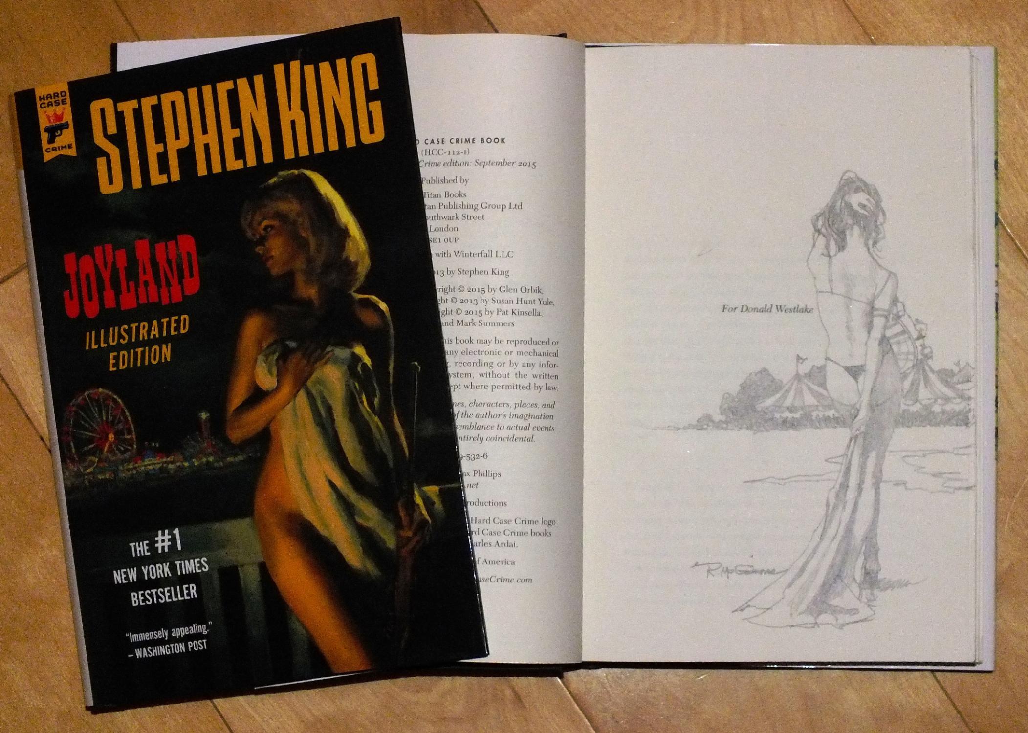 Joyland (illustrated edition) artist-signed remarqued 1st edition: Stephen King