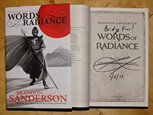Words of Radiance - signed lined dated: Brandon Sanderson
