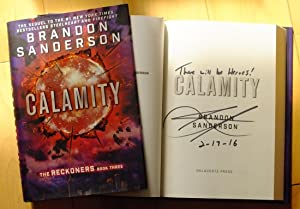 Calamity - Signed lined dated US HB: Brandon Sanderson