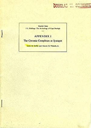 The Ceramic Complexes at Iyatayet (Appendix I): Griffin, James B.