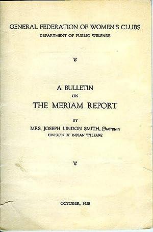A Bulletin on The Meriam Report: Mrs. Joseph Lindon