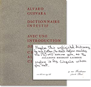Dictionnaire Intuitif. Introduction de Charles-Albert Cingria: DICTIONARIES] GUEVARA, Alvaro