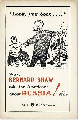 A Little Talk on America [drop title]: SHAW, Bernard