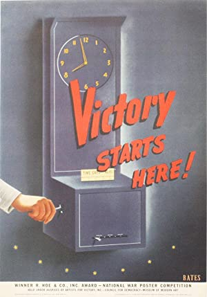 """Poster: """"Victory Starts Here!"""": BATES (artist)"""