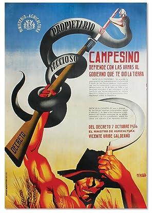 Campesino, defiende con las armas al gobierno: SPANISH CIVIL WAR]