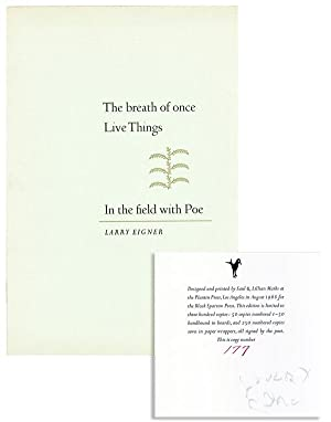 The Breath of Once Live Things in the Field with Poe [Limited Edition, Signed]