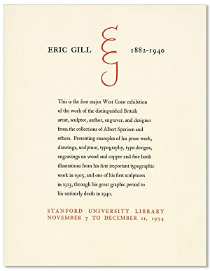 Eric Gill, 1882-1940 [drop title]