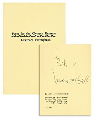 Poem for the Olympic Runners [Limited Edition, Inscribed & Signed]