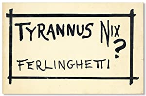 Tyrannus Nix? [Signed Bookplate Laid in]