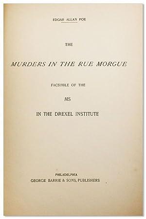 The Murders in the Rue Morgue. Facsimile: POE, Edgar Allan