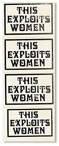 "Sheet of 4 stickers which read ""This: WOMEN'S LIBERATION MOVEMENT]"