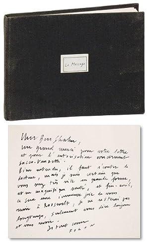 Le Message: FOLON, Jean-Michel