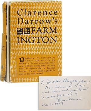 Farmington [Inscribed to Burgess Johnson]: DARROW, Clarence