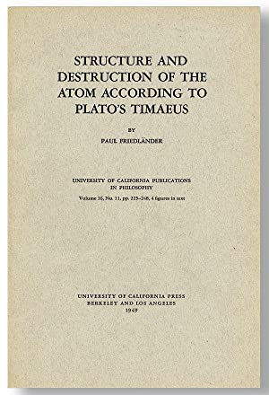 Structure and Destruction of the Atom According to Plato's Timaeus