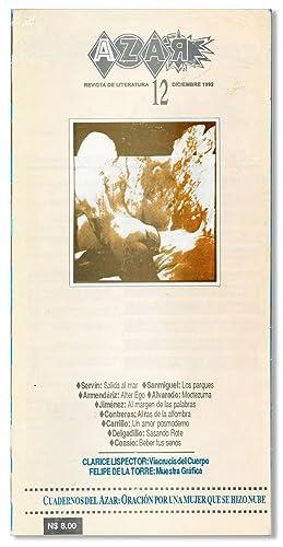 Azar: Revista de Literatura. No. 12, Diciembre,: LISPECTOR, Clarice] MEJÍA,