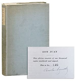 Don Juan de Marana: A Play in Four Acts [Limited Edition, Signed]