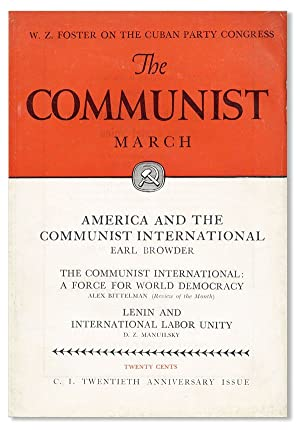 The Communist: A Magazine of the Theory: COMMUNIST PARTY OF