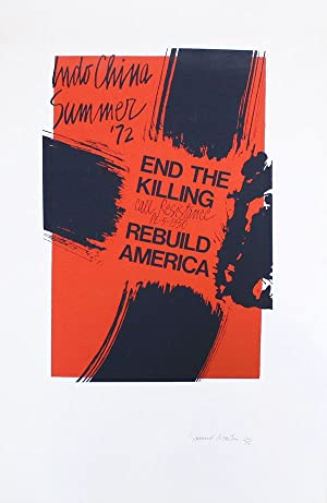 Poster: Indo China Summer '72 - End The Killing - Call Resistance PE-5-1350 - Rebuild America
