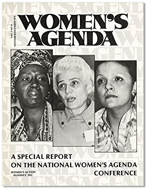 Women's Agenda, Vol. 1, no. 8, November/December,: WOMEN'S ACTION ALLIANCE