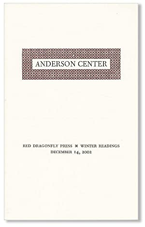 Anderson Center . Winter Readings, December 14, 2002