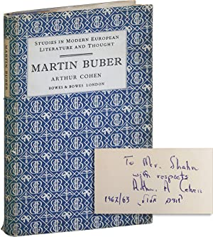 Martin Buber [Inscribed & Signed to Bernarda Shahn]