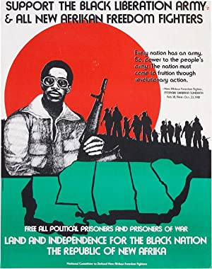Poster: Support the Black Liberation Army & All New Afrikan Freedom Fighters