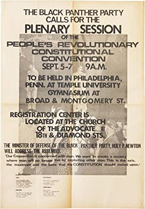 Poster: The Black Panther Party Calls for the Plenary Session of the People's Revolutionary Const...