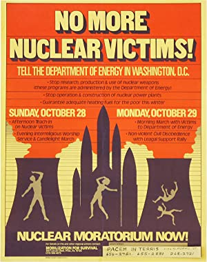 Poster: No More Nuclear Victims! Tell the Department of Energy in Washington, D.C. - Nuclear Mora...