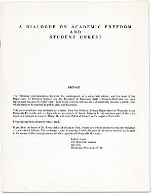 A Dialogue on Academic Freedom and Student Unrest