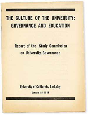 The Culture of the University: Governance and Education. Report of the Study Commission on Univer...