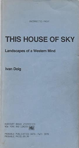 This House of Sky. Landscapes of a Western Mind