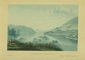Malsesine vers Riva.: WETZEL, Johann Jacob.