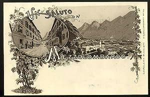 Un saluto da Mezzolombardo.: CARTOLINA LITOGRAFICA -