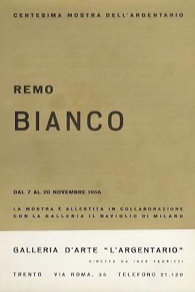 Remo Bianco: dal 7 al 20 novembre