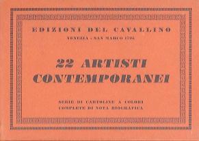 22 artisti contemporanei: serie di cartoline a colori complete di nota biografica.