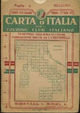 Carta d'Italia del Touring Club Italiano.: Alla scala di 1:250.000.: ITALIA - CARTE GEOGRAFICHE].
