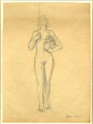 Studio di statua.: ZANIBONI, Silvio.