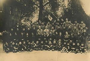Fotografia di gruppo di fascisti a Mezzolombardo.: MEZZOLOMBARDO - FASCISMO