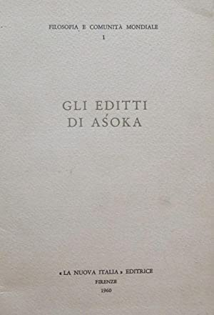 Gli editti di Asoka.: Institut international de: ASOKA.