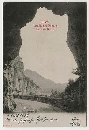 Lago di garda.: Titolo originale al recto: CARTOLINA POSTALE FOTOGRAFICA