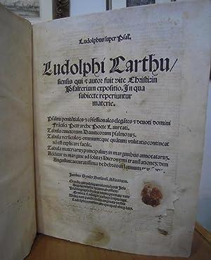 Ludolphi Carthusiensis qui autor fuit vite Christi: LUDOLPHUS DE SAXONIA