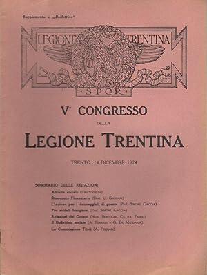 V° Congresso della legione trentina: Trento, 14