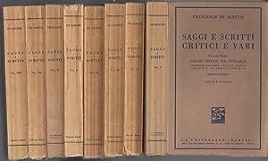 Saggi e scritti critici e vari.: I.: DE SANCTIS, Francesco.