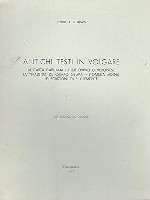 Antichi testi in volgare: la Carta Capuana,: BRAVI, Ferruccio.