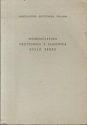 Nomenclatura geotecnica e classifica delle terre: I°