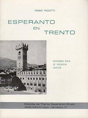Esperanto en Trento: historio rica je signifaj: RIGOTTI, Rebo.